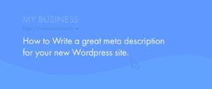How to write a great meta description in wordpress.