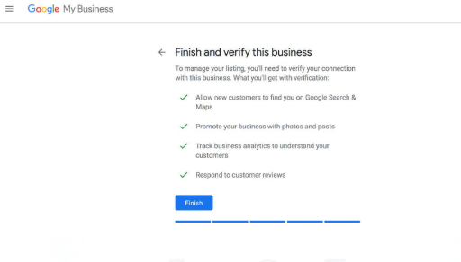 Verify Google business information