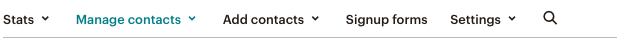 MailChimp Email Settings