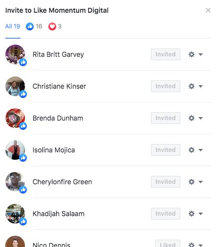 List of Facebook Post Likers