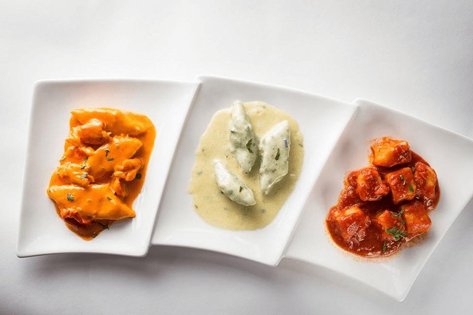 Pasta dishes at ristorante aroma