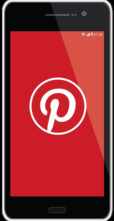 Pinterest icon on phone