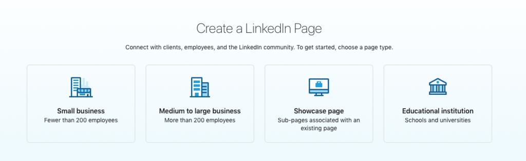 LinkedIn business page company size