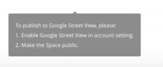 publishing to google street view