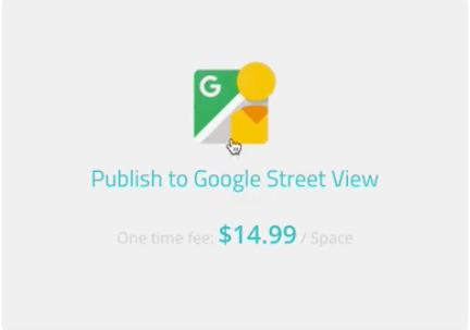 cost of publishing to google street view