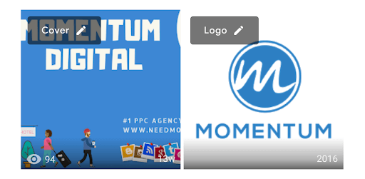 Momentum's digital marketing logo and profile picture.