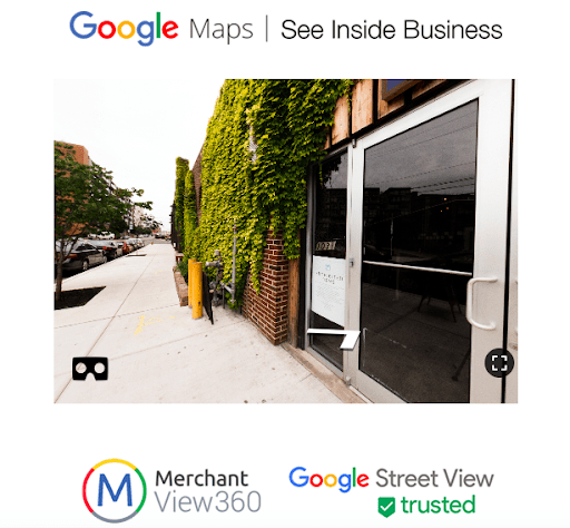 Google virtual tour example picture.