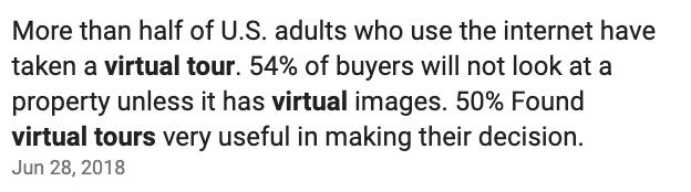 virtual tour statistics