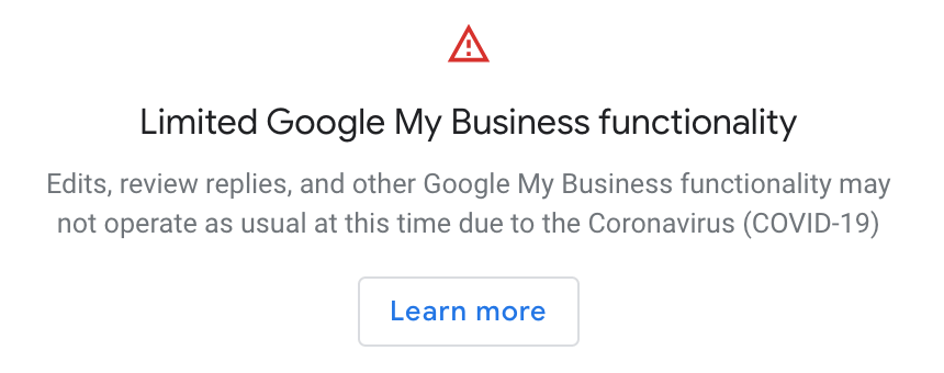 Google My Business Updates During the Coronavirus