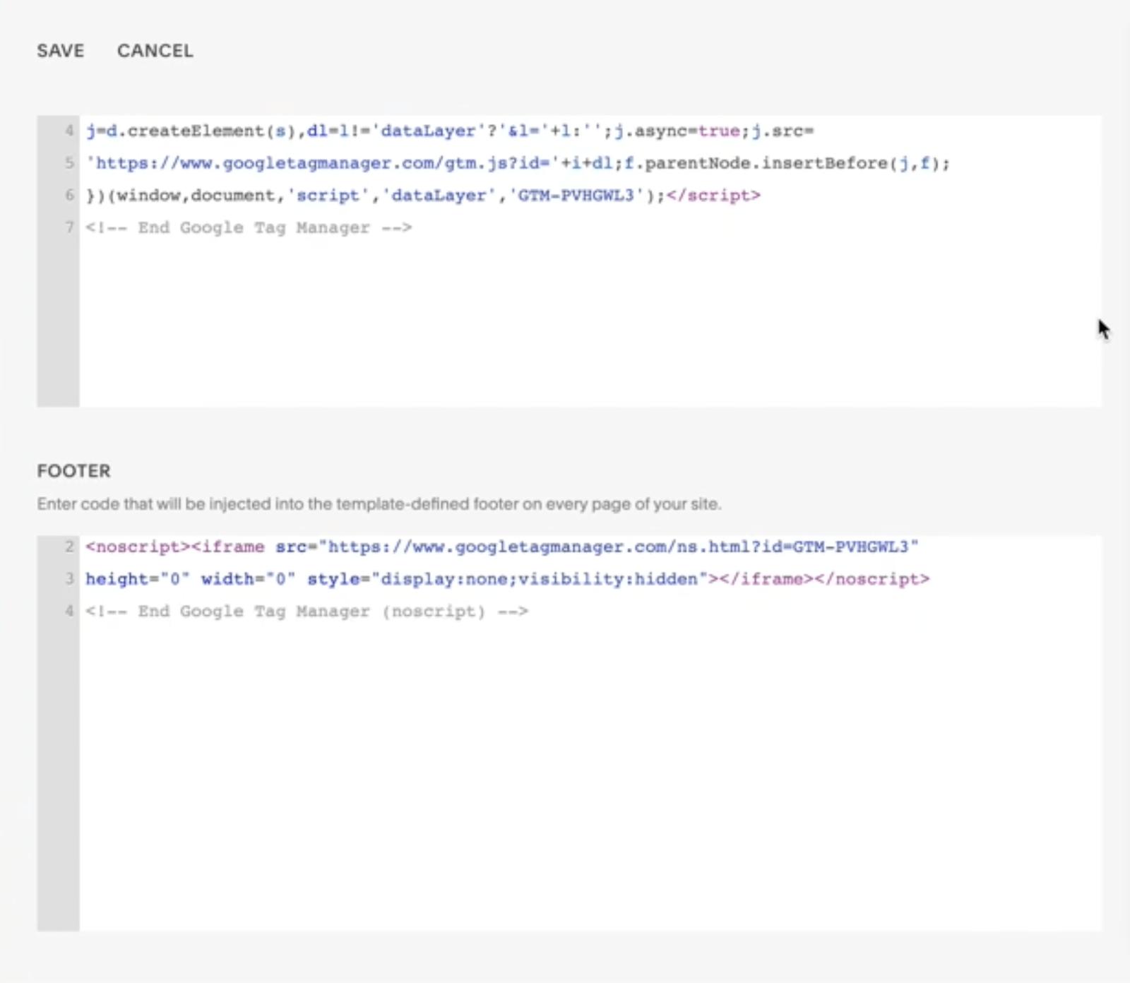 adding gtm code