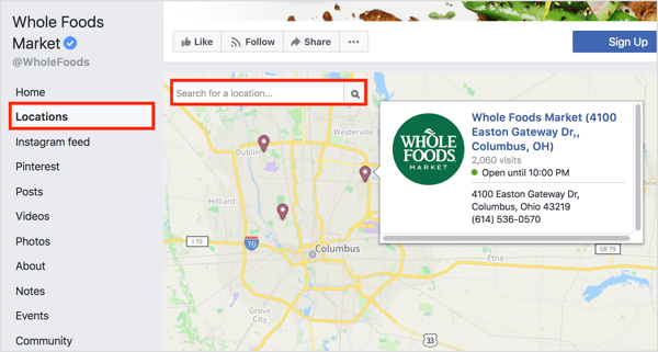 Add facebook stores