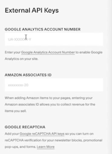 squarespace google analytics id